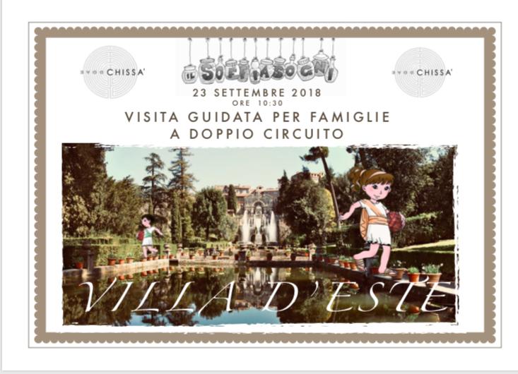Villa d'Este, visita guidata per famiglie a doppio circuito